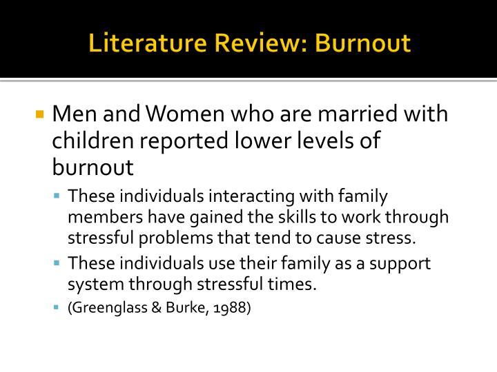 Literature Review: Burnout