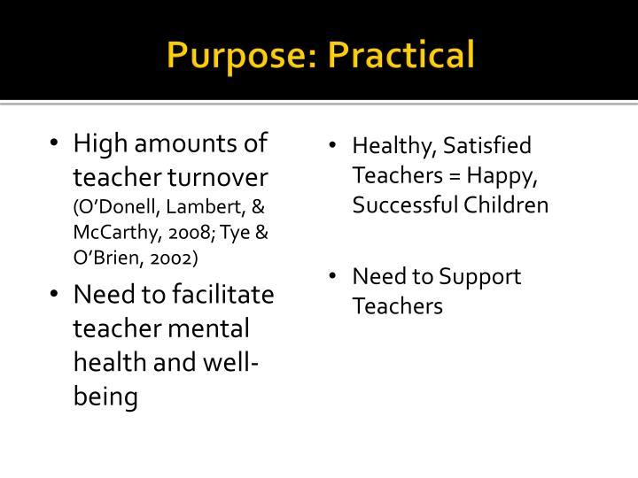 Purpose: Practical