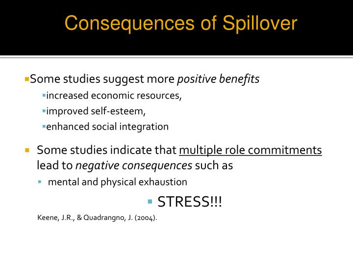 Consequences of Spillover