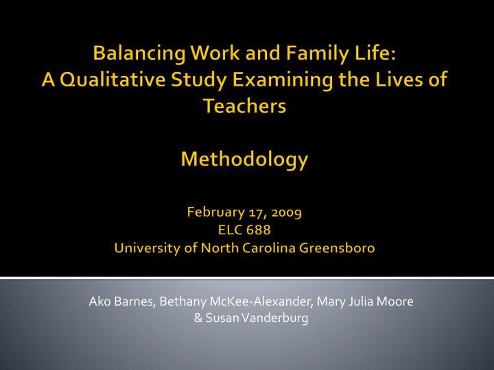 Balancing Work and Family Life: