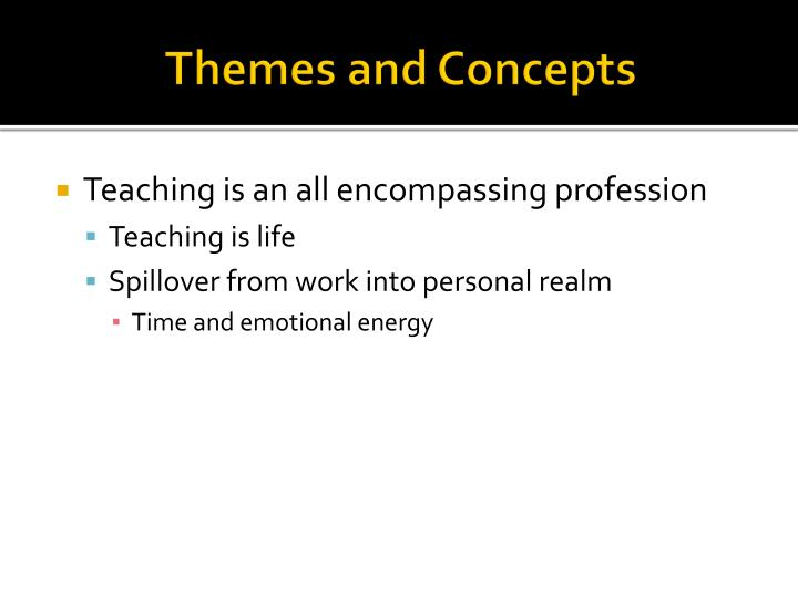 Themes and Concepts