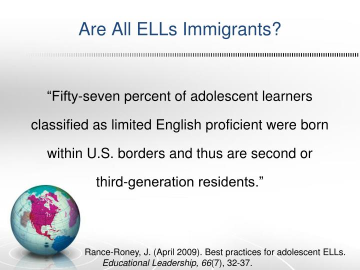 Are All ELLs Immigrants?