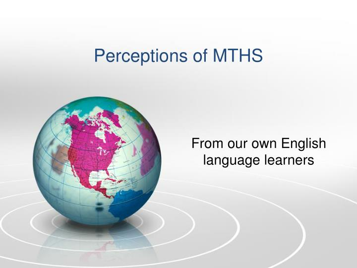 Perceptions of MTHS