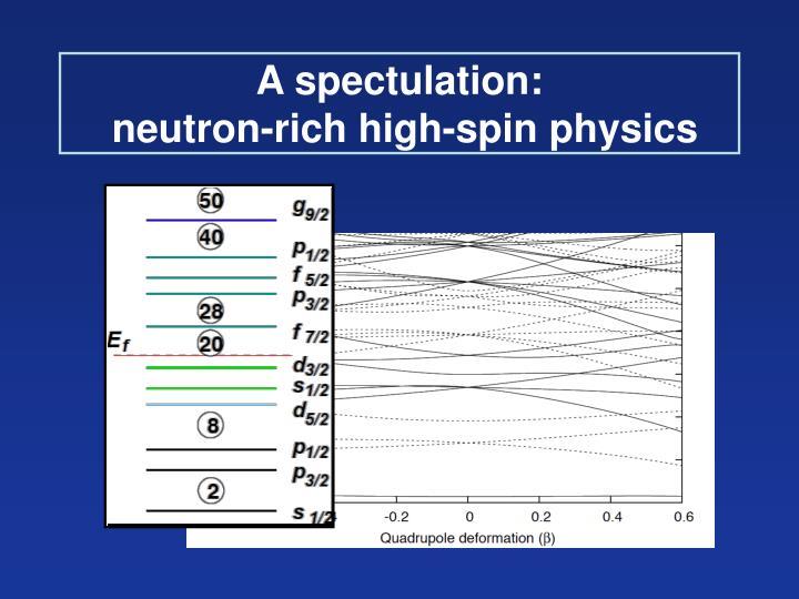 A spectulation: