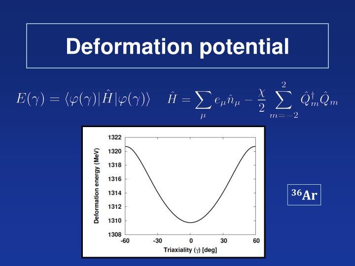 Deformation potential