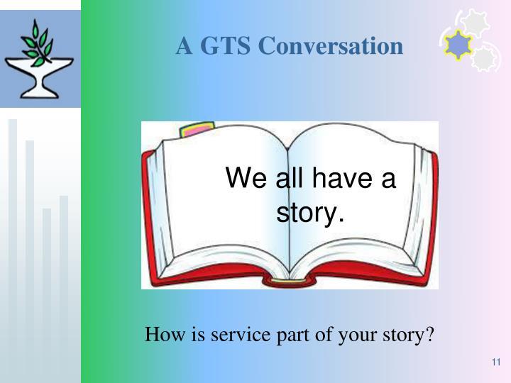 A GTS Conversation