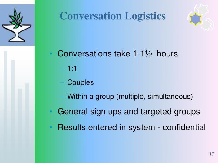 Conversation Logistics