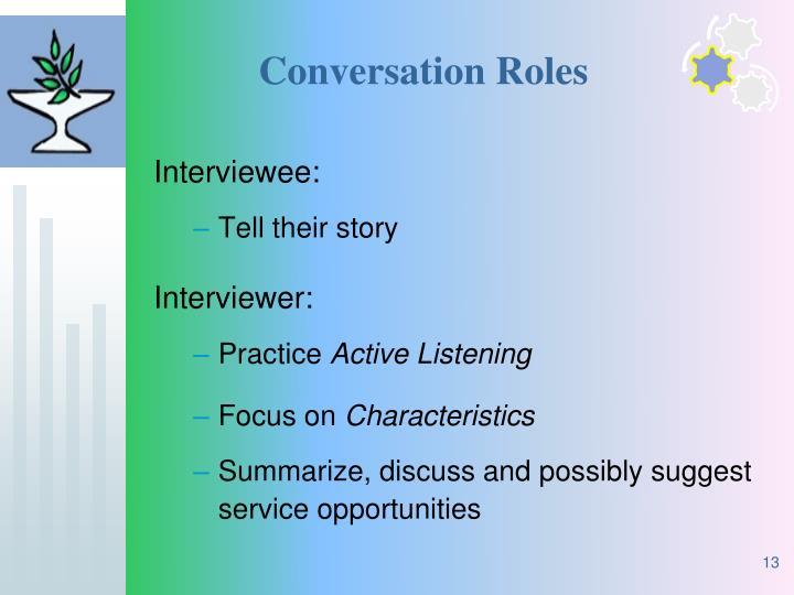 Conversation Roles