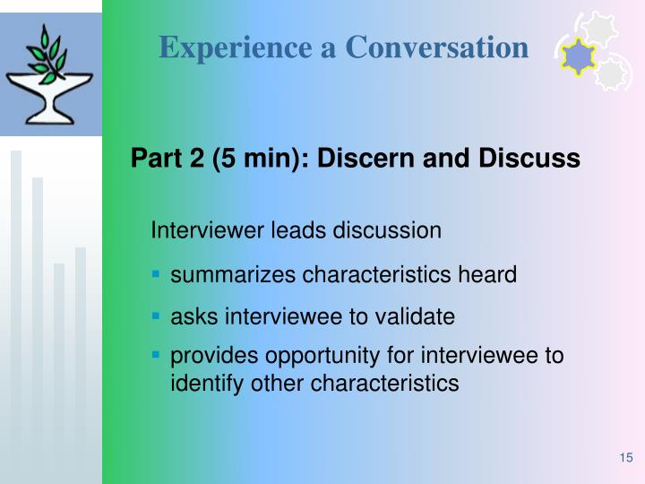 Experience a Conversation