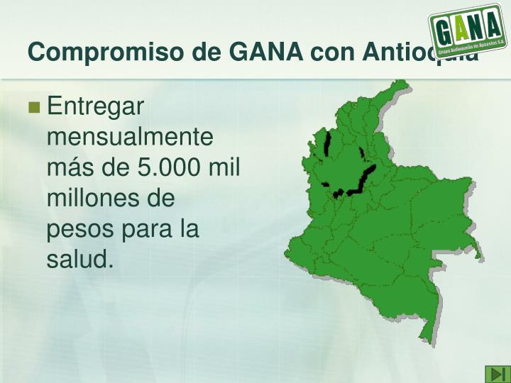 Compromiso de GANA con Antioquia