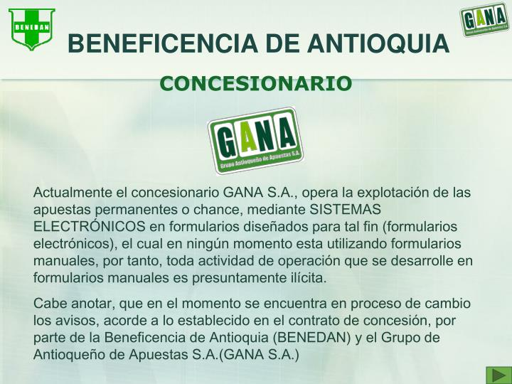 BENEFICENCIA DE ANTIOQUIA