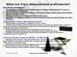 what are trip s demonstrated proficiencies