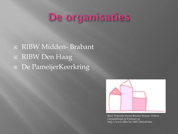 De organisaties
