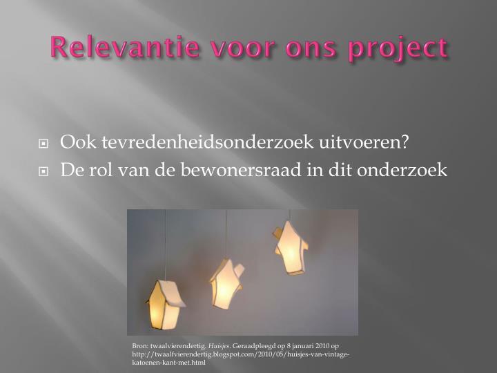 Relevantie voor ons project