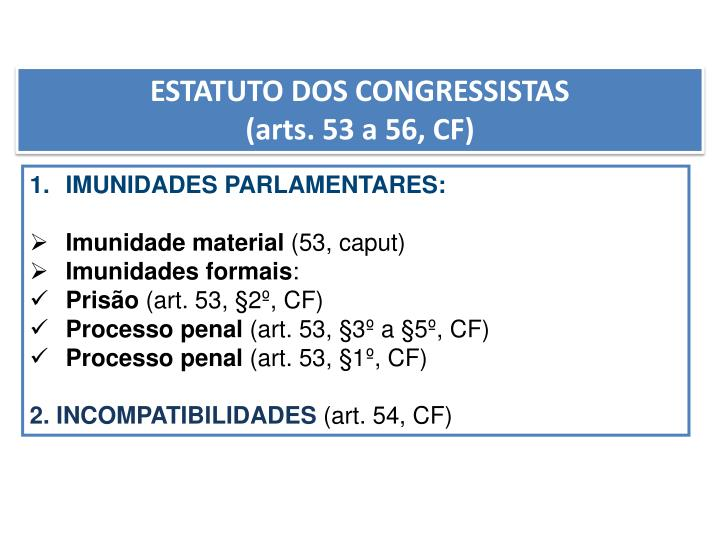 ESTATUTO DOS CONGRESSISTAS