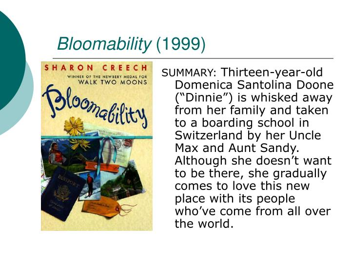 Bloomability book report