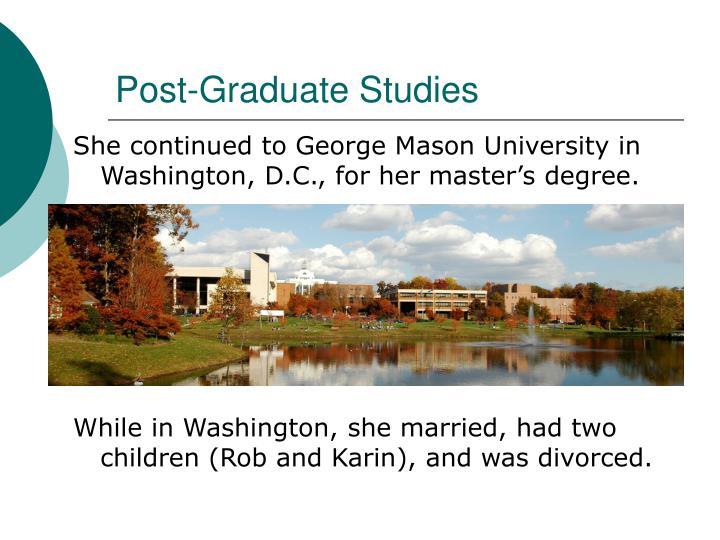 Post-Graduate Studies