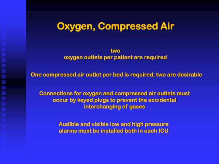 Oxygen, Compressed Air