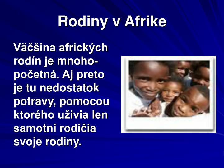 Rodiny v Afrike