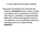 il nuovo approccio di policy making