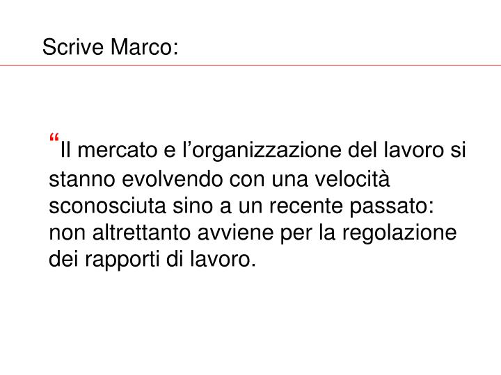 Scrive marco
