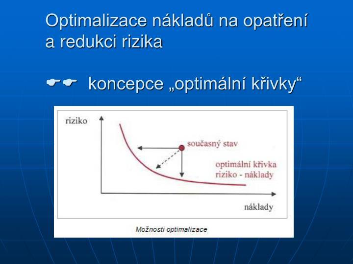 Optimalizace nákladů na opatření