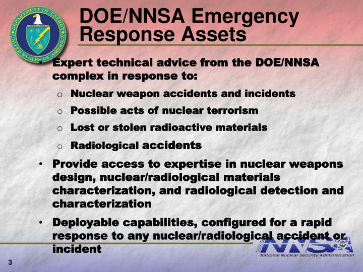 Doe nnsa emergency response assets