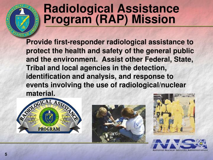 Radiological Assistance Program (RAP) Mission