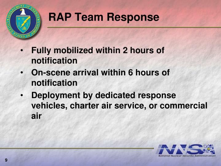 RAP Team Response