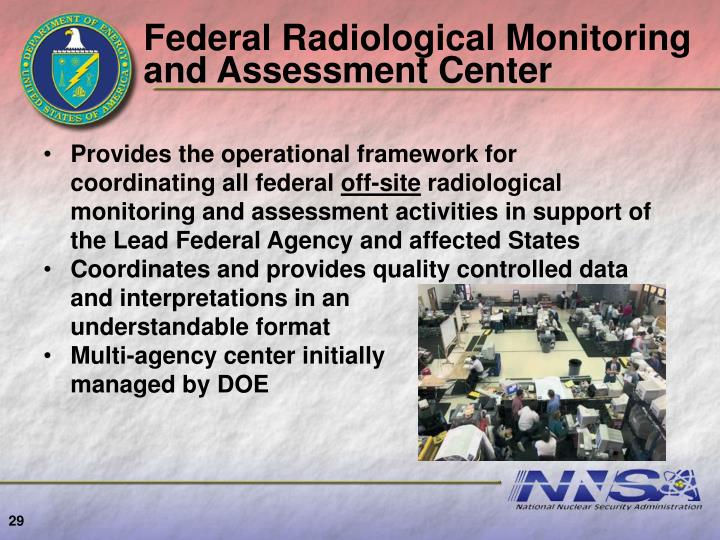 Federal Radiological Monitoring and Assessment Center