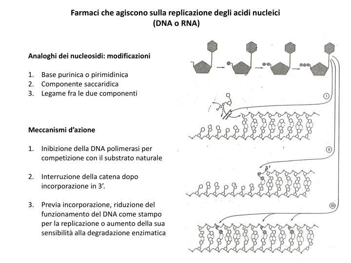 Farmaci che agiscono sulla replicazione degli acidi nucleici