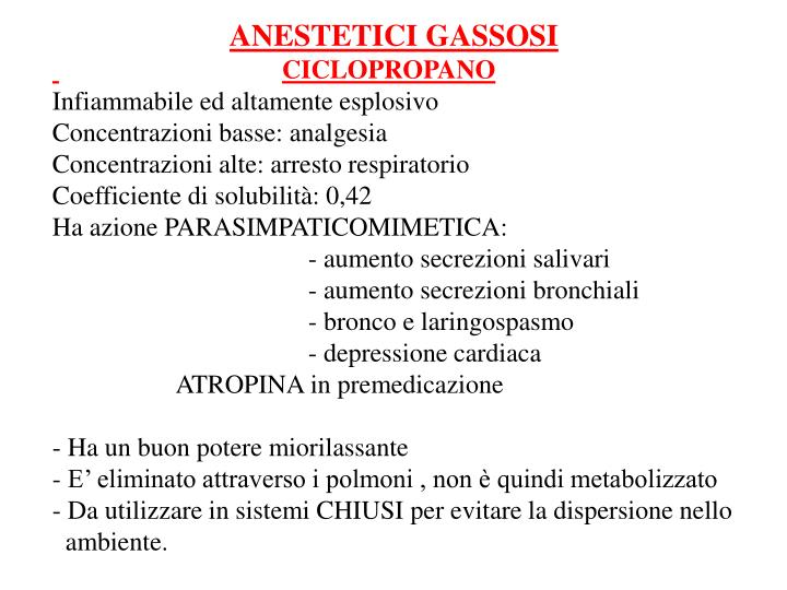 ANESTETICI GASSOSI