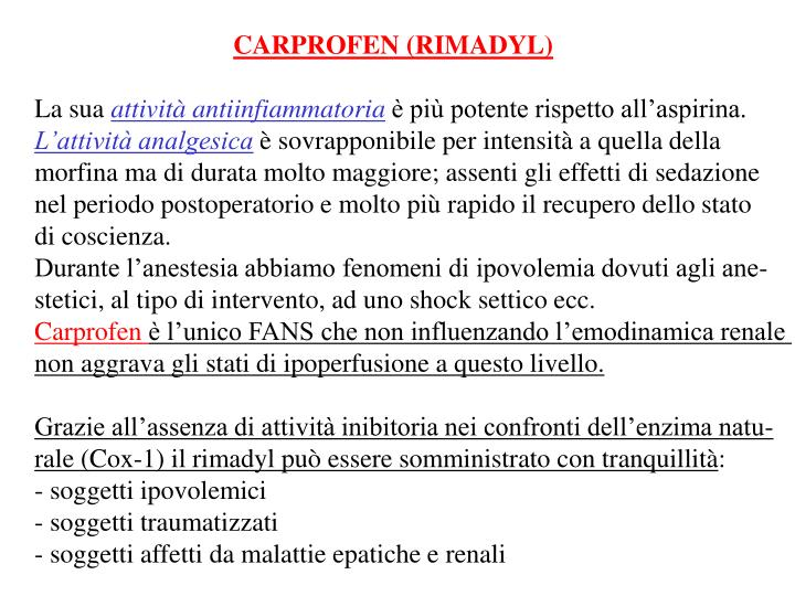 CARPROFEN (RIMADYL)
