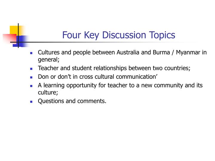 Four key discussion topics