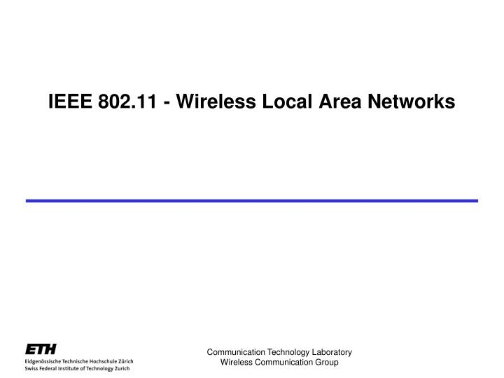 ieee 802 11 wireless local area networks