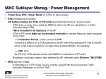 mac sublayer manag power management