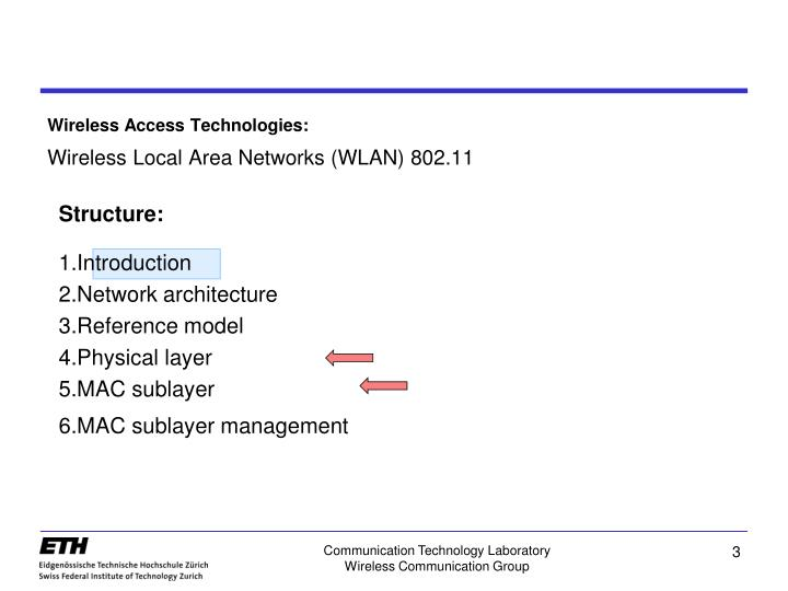 Wireless access technologies wireless local area networks wlan 802 11