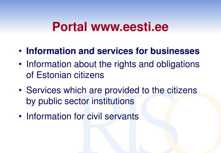 Portal www.eesti.ee