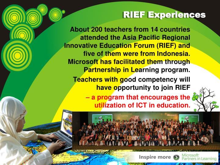 RIEF Experiences
