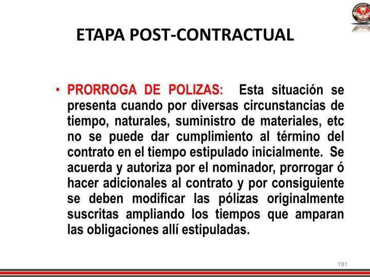 ETAPA POST-CONTRACTUAL