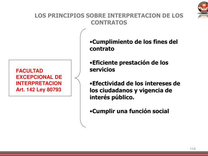 LOS PRINCIPIOS SOBRE INTERPRETACION DE LOS CONTRATOS