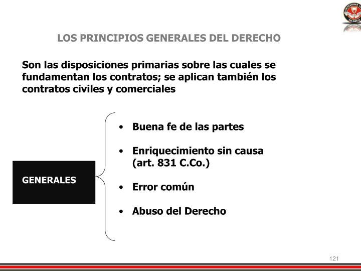 LOS PRINCIPIOS GENERALES DEL DERECHO