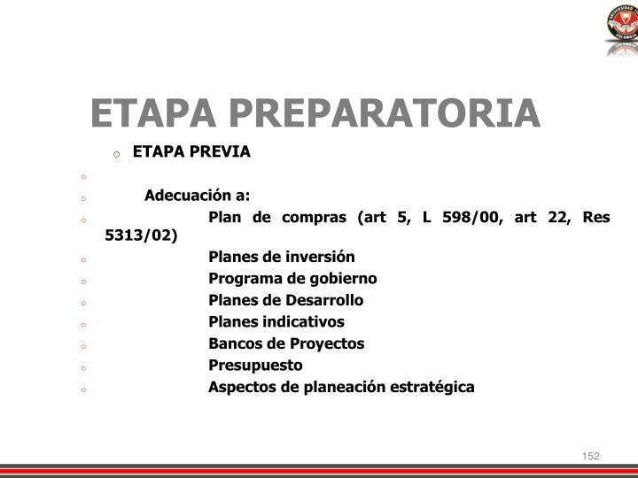 ETAPA PREPARATORIA