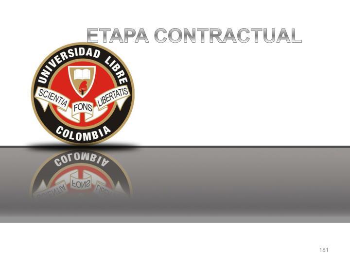 ETAPA CONTRACTUAL