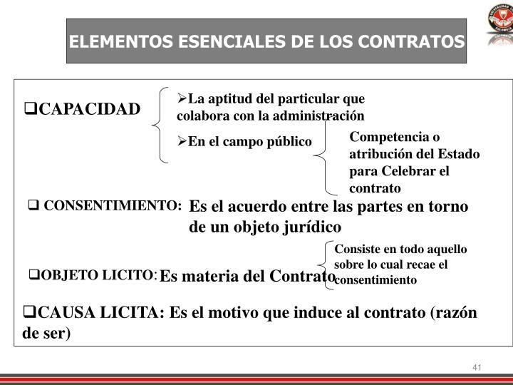 ELEMENTOS ESENCIALES DE LOS CONTRATOS