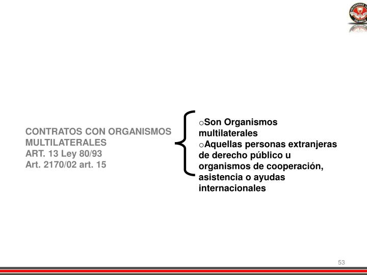 Son Organismos multilaterales