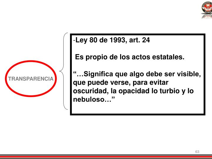 Ley 80 de 1993, art. 24