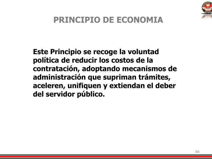 PRINCIPIO DE ECONOMIA