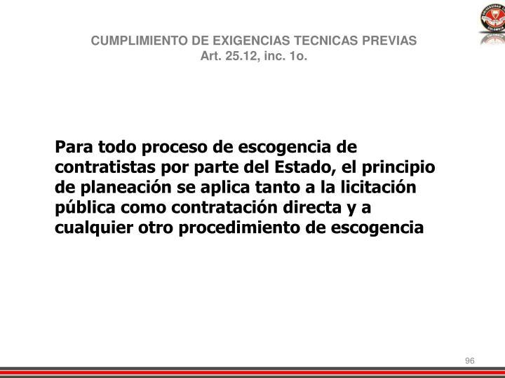 CUMPLIMIENTO DE EXIGENCIAS TECNICAS PREVIAS