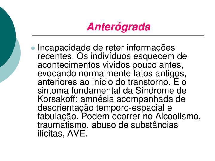 Anterógrada